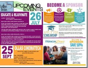 Event flyer Latinas Unidas